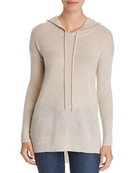 Bloomingdale's C By Long Cashmere Hooded Sweater 100 Exclusive Heather Oatmeal