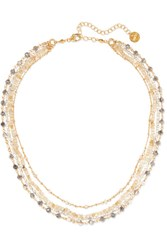 Chan Luu Gold Plated Multi Stone Necklace One Size