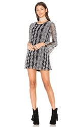 Band Of Gypsies Geometric Dress Black And White