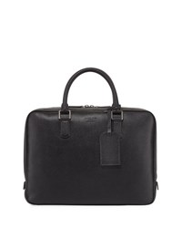 Giorgio Armani Caviar Leather Briefcase Black