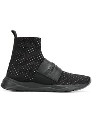 Balmain Cameron Stretch Sock Sneakers Black