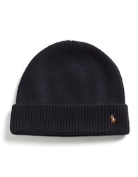 Polo Ralph Lauren Merino Wool Beanie Hunter Navy