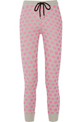 Markus Lupfer Smacker Printed Cotton Terry Straight Leg Pants