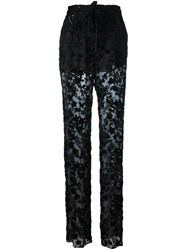 Etro Sheer Trousers Black