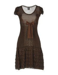 Tricot Chic Short Dresses Dark Brown