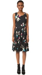 Wgaca Chanel Quilted Print Dress Previously Owned Navy Multi