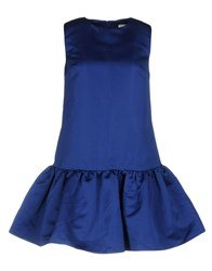 Edit Short Dresses Bright Blue