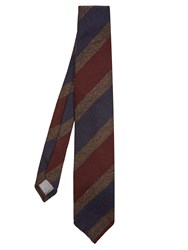 Dunhill Striped Wool Tie Navy Multi