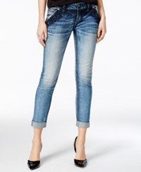 Miss Me Cuffed Medium Blue Wash Skinny Jeans