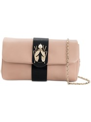 Red Valentino Beetle Embellished Clutch Pink And Purple