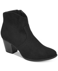 American Rag Rylie Western Ankle Booties Created For Macy's Women's Shoes Black