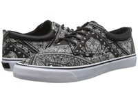Radii The Jax Black White Paisley Canvas Men's Shoes