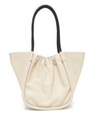 Proenza Schouler Ruched Large Leather Tote Bag White