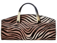 Sas Deena Black Zebra Handbags Animal Print