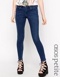 Asos Petite Whitby Skinny Jeans In Rich Blue Wash Richblue
