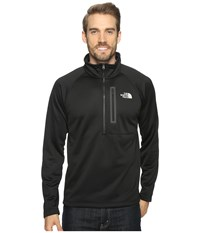 The North Face Canyonlands 1 2 Zip Tnf Black Rainy Day Ivory Men's Long Sleeve Pullover