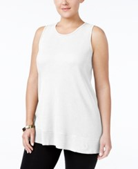 Styleandco. Style Co. Plus Size High Low Tank Top Only At Macy's Bright White