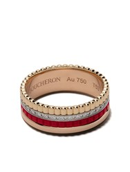 Boucheron 18Kt Gold Quatre Red Diamond Ring 3G