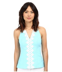 Lilly Pulitzer Magnolia Top Breakwater Blue Women's Sleeveless