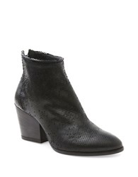 Andre Assous Fify Snake Textured Ankle Boots Black