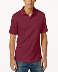 Club Room Short Sleeve Solid Estate Performance Polo Clay Red