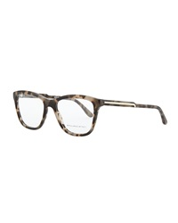 Stella Mccartney Square Acetate Fashion Glasses Gray Tortoise