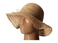 Karen Kane Raffia Straw Packable Floppy Honey Caps Tan
