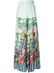 Black Coral Palace Jungle Trousers Green