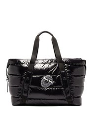 Moncler Logo Patch Quilted Down Holdall Black