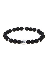 Jean Claude Onyx Beaded Stretch Bracelet Black