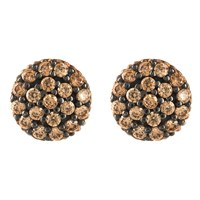 Latelita London Sparkling Orb Earring Chocolate Cz Rose Gold Brown
