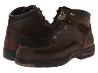 Georgia Boot Athens 6 Moc Toe Lace Up Brown Men's Work Lace Up Boots