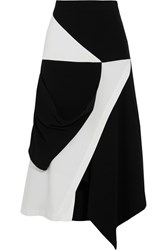 J.W.Anderson Asymmetric Wrap Effect Crepe Skirt Black
