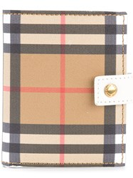 Burberry Vintage Check Folding Wallet White