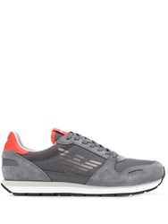 Emporio Armani Side Monogram Sneakers Grey