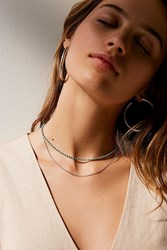 Urban Outfitters Stevie Delicate Double Necklace Turquoise
