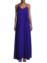 Nicole Miller Solid Flared Racerback Dress Royal