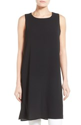 Women's Bobeau Double Layer Side Slit Tunic Black