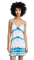 Young Fabulous And Broke Tie Dye Slip Dress Blue Valley Wash