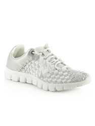 Daniel Hollywood Hills Woven Elastic Trainers Silver Metallic