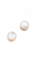 Ginette_Ny Cultured Freshwater Pearl Cabochon Stud Earrings Pearl Rose Gold