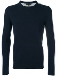 Theory Bi Colour Sweater Blue