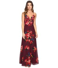 Rsvp Milan Printed Gown Red Multi Women's Dress