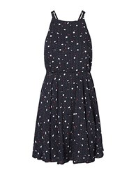 Vero Moda Dot Printed A Line Dress Navy