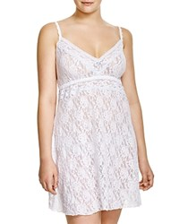 Hanky Panky Plus Annabel Signature Lace Chemise White Baby Blue