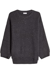 Brunello Cucinelli Cashmere Pullover With Sequins Grey