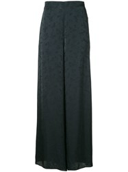 Rosetta Getty Floral Detail Palazzo Trousers Blue