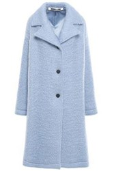Mcq By Alexander Mcqueen Woman Brushed Wool Blend Coat Sky Blue