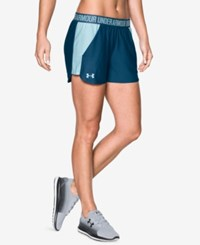 Under Armour Play Up Performance Shorts Blackout Navy Skylight