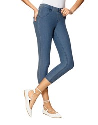 Hue Cotton Blend Denim Capris Stone Acid